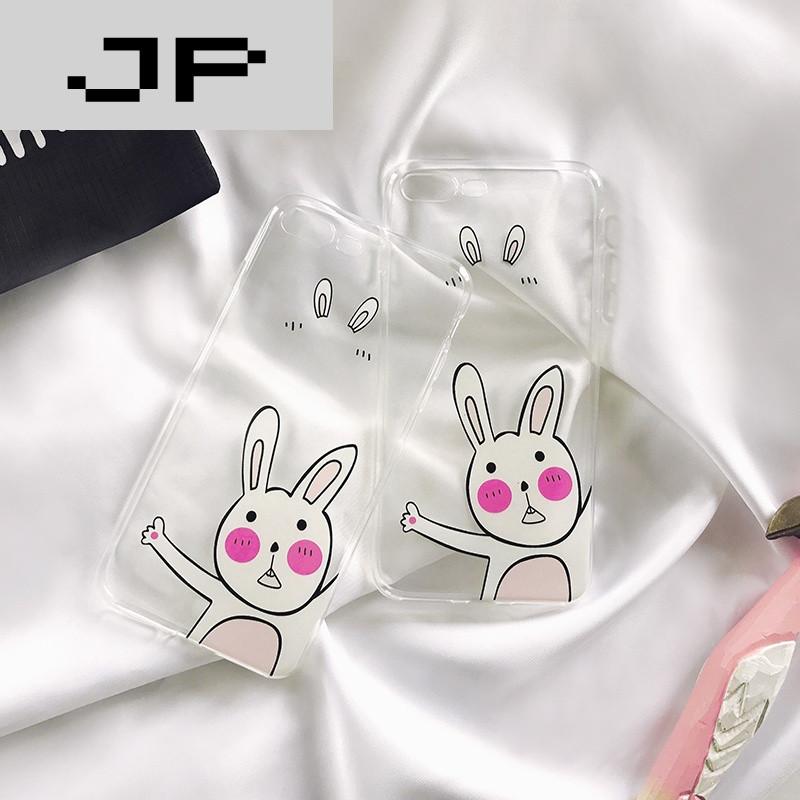 jp潮流品牌可爱卡通兔子苹果6plus 透明手机壳iphone7