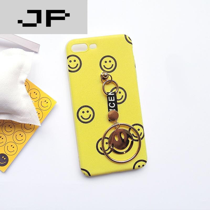 jp潮流品牌可爱卡通iphone6/6s/plus笑脸手机壳带吊坠