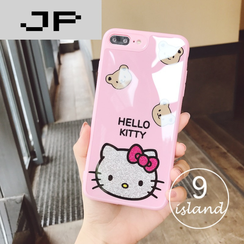 jp潮流品牌日系可爱猫咪iphone6plus手机壳粉色萌女款