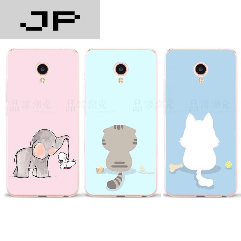 jp潮流品牌魅族mx4手机壳mx6超薄软壳mx5有创意简约可爱小动物女款防