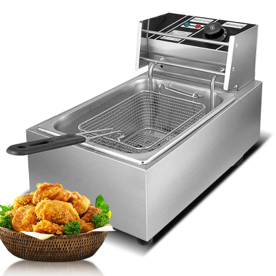 纳丽雅 炸锅单缸商用家用加厚油炸锅油炸机器薯塔机炸薯条机电炸炉单缸