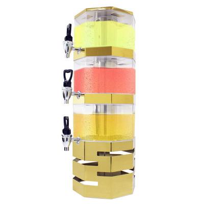 纳丽雅 三层不锈钢果汁鼎叠式塔式自助餐多层果汁机冷饮机饮料机 标配