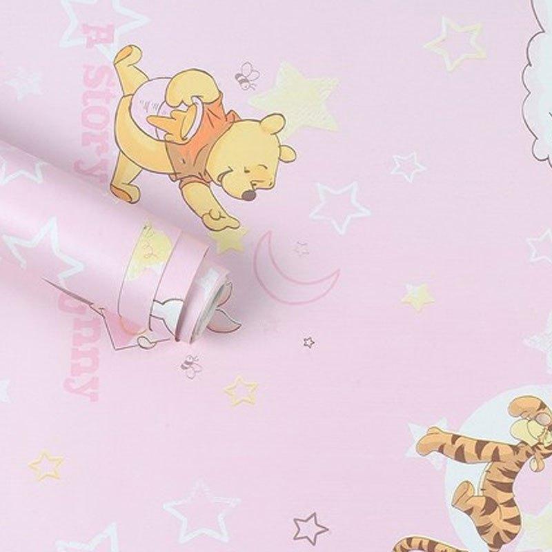 【送工具】可爱糖果色加厚pvc卡通墙纸自粘客厅卧室背景儿童房男孩