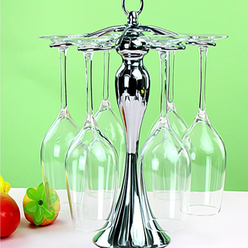 欧式时尚红酒杯架金属倒挂红酒架高脚杯架葡萄酒杯架酒瓶架创意家居