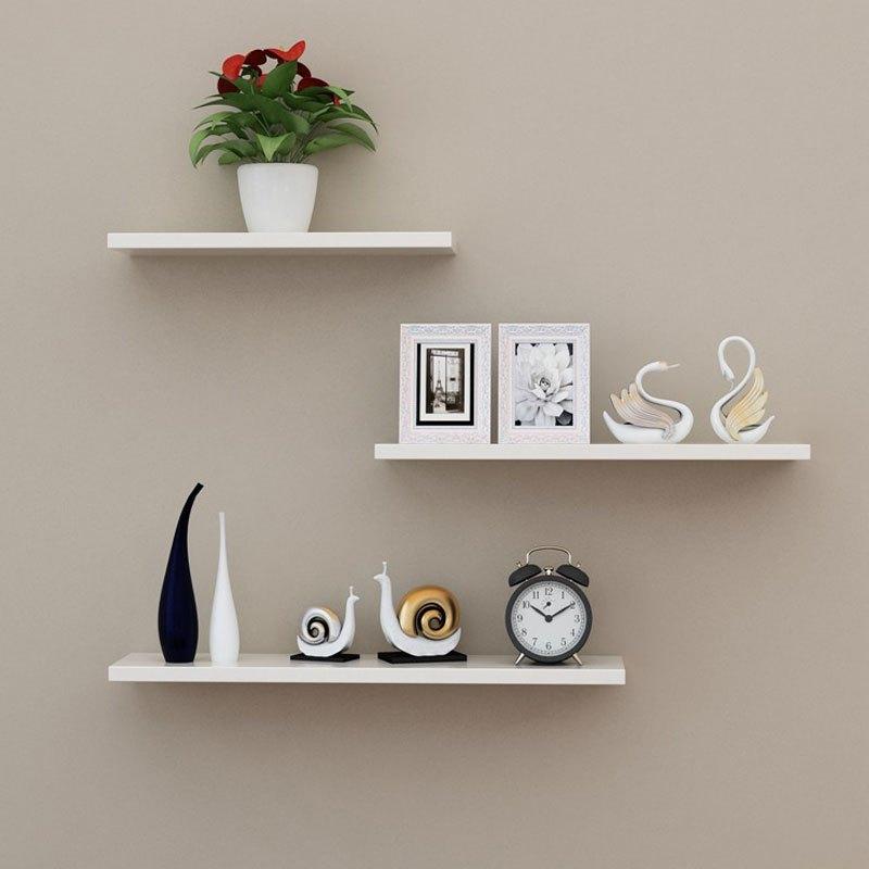 一字型人造板墙上置物架墙壁客厅一字隔板搁板壁挂墙面层板书架现代