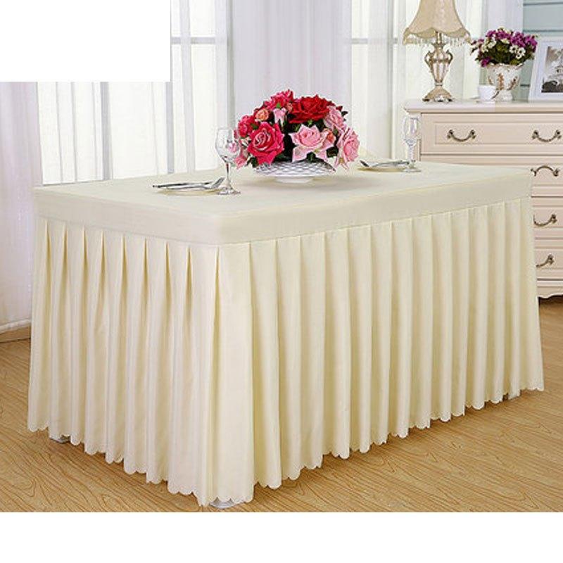 纯色办公会议桌布桌裙 布艺台布活动冷餐桌布订做签到
