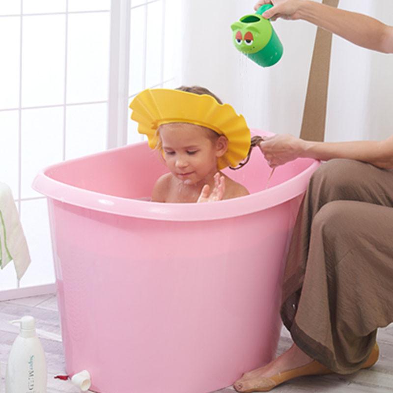 宝宝洗澡桶-儿童塑料泡澡桶图片
