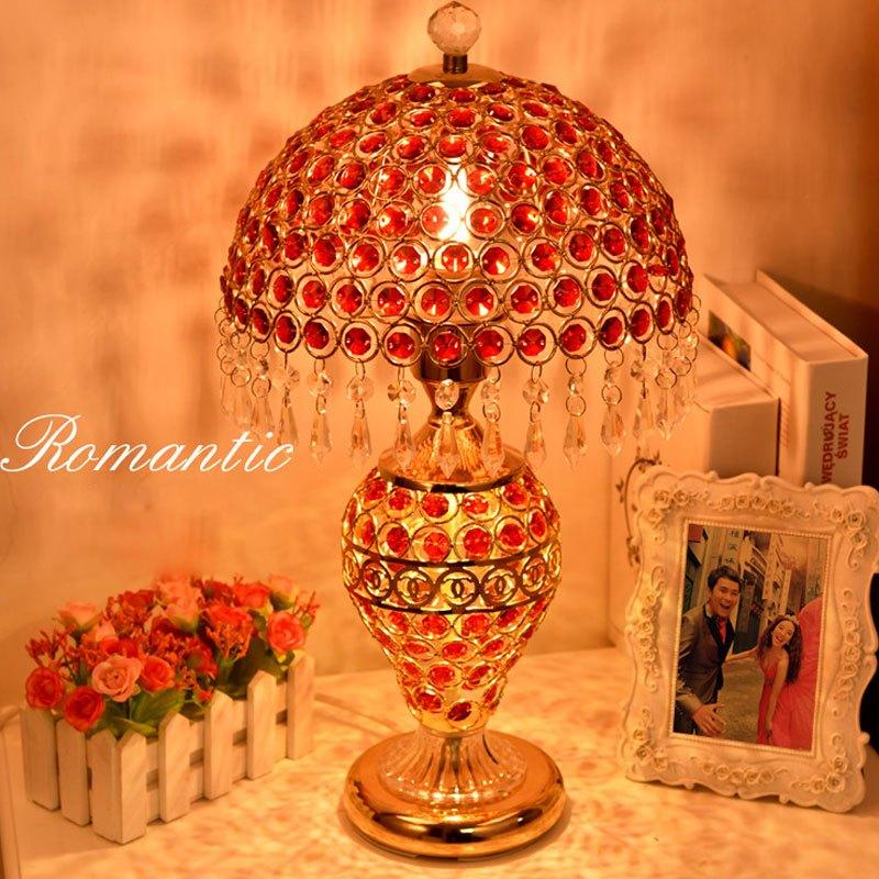 欧式台灯水晶台灯卧室床头灯客厅华婚庆装饰台灯创意台灯多功能多色多