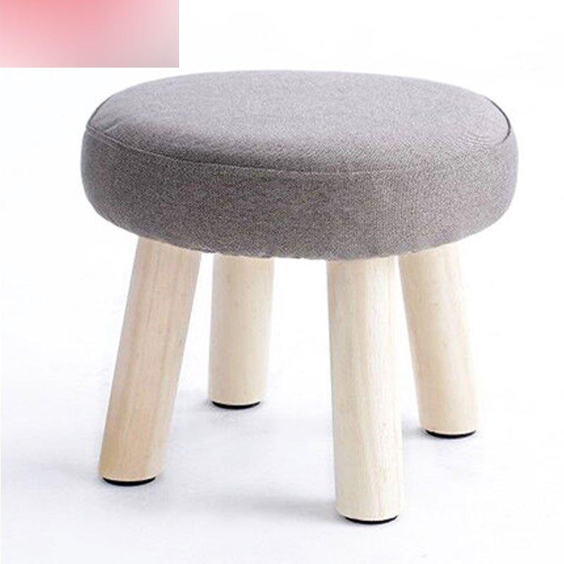 凳子时尚创意布艺小凳子成人实木换鞋凳家用板凳儿童凳沙发凳矮凳多色图片