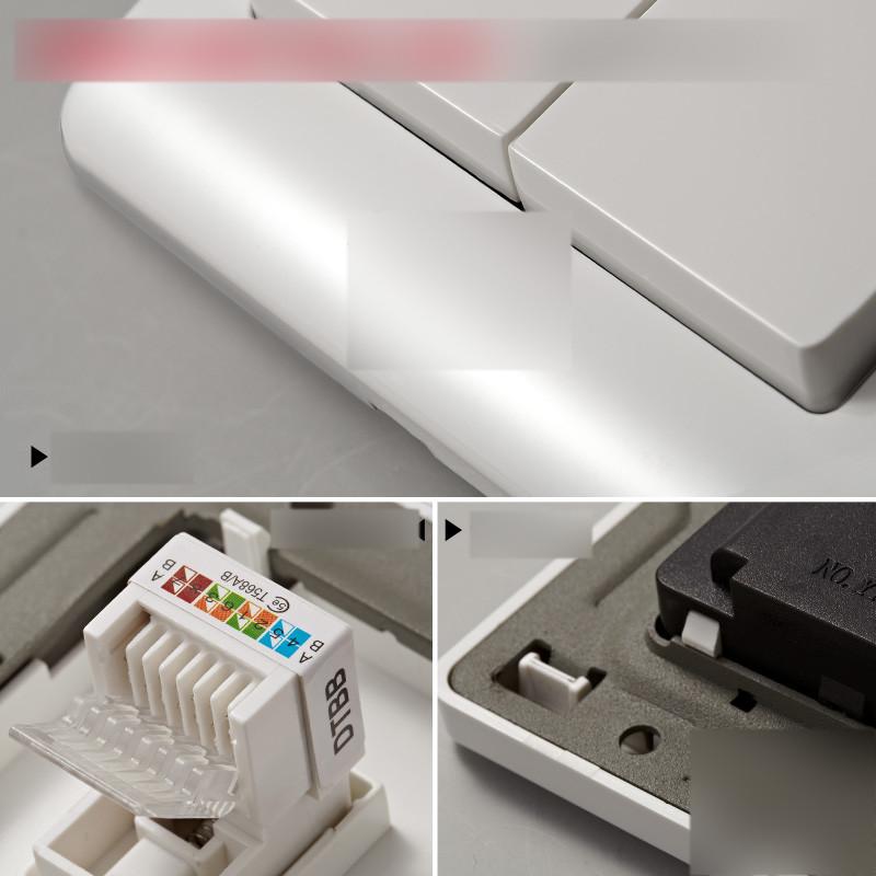开关插座面板墙壁开关 网络网线插座 电脑插座单电脑面板插座生活日用