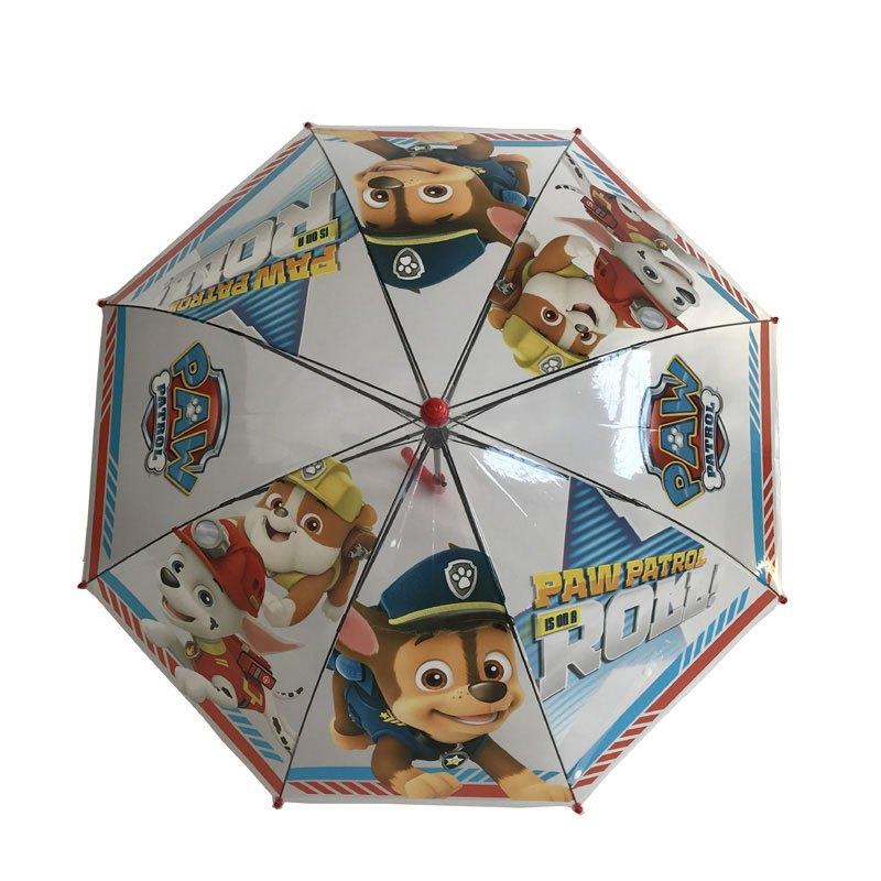 新款幼儿园宝宝男女童雨伞汪汪狗狗巡逻队儿童卡通透明长柄伞多色多款