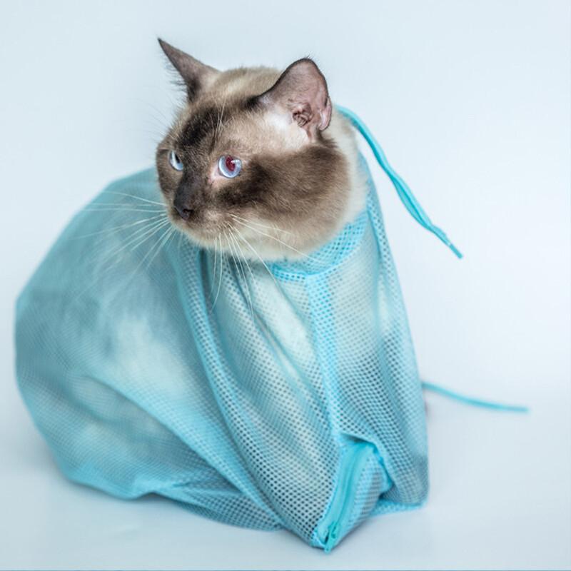 宠星人 洗猫袋猫洗澡袋 猫咪洗澡袋子 固定袋防抓防咬