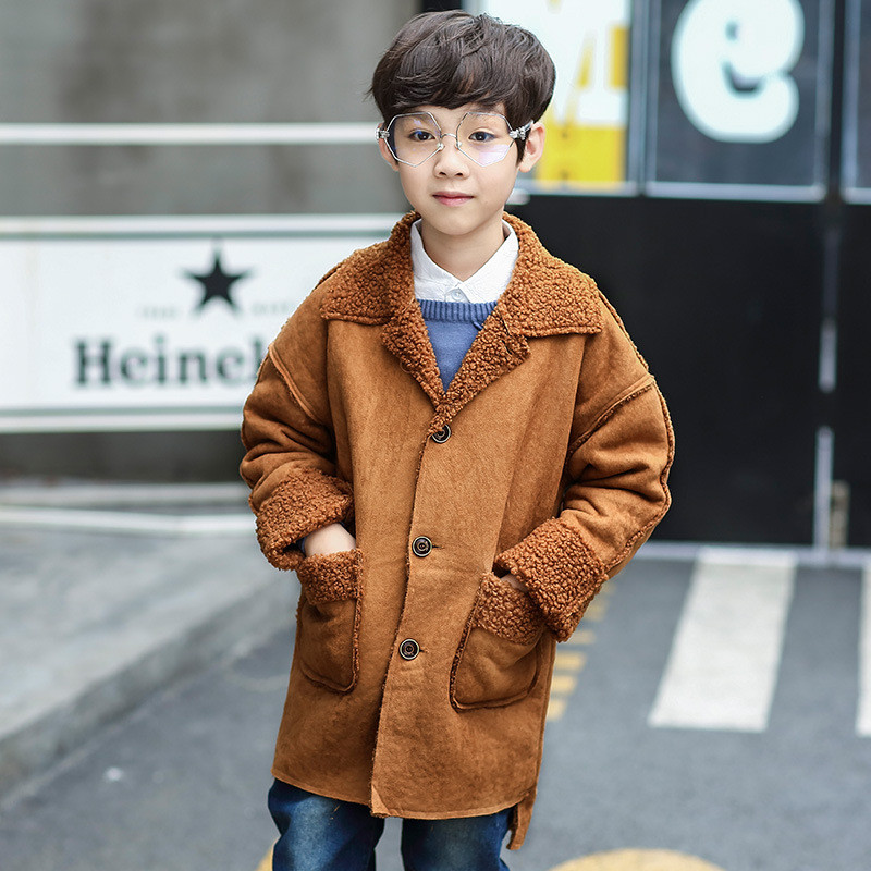 婴童外套/风衣长款风衣翻领儿童外套