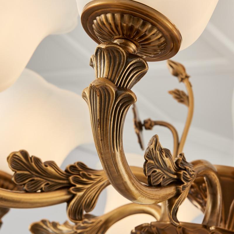简欧欧式简约现代锌合金吊灯客厅餐厅卧室灯大气后现代新古典古铜色