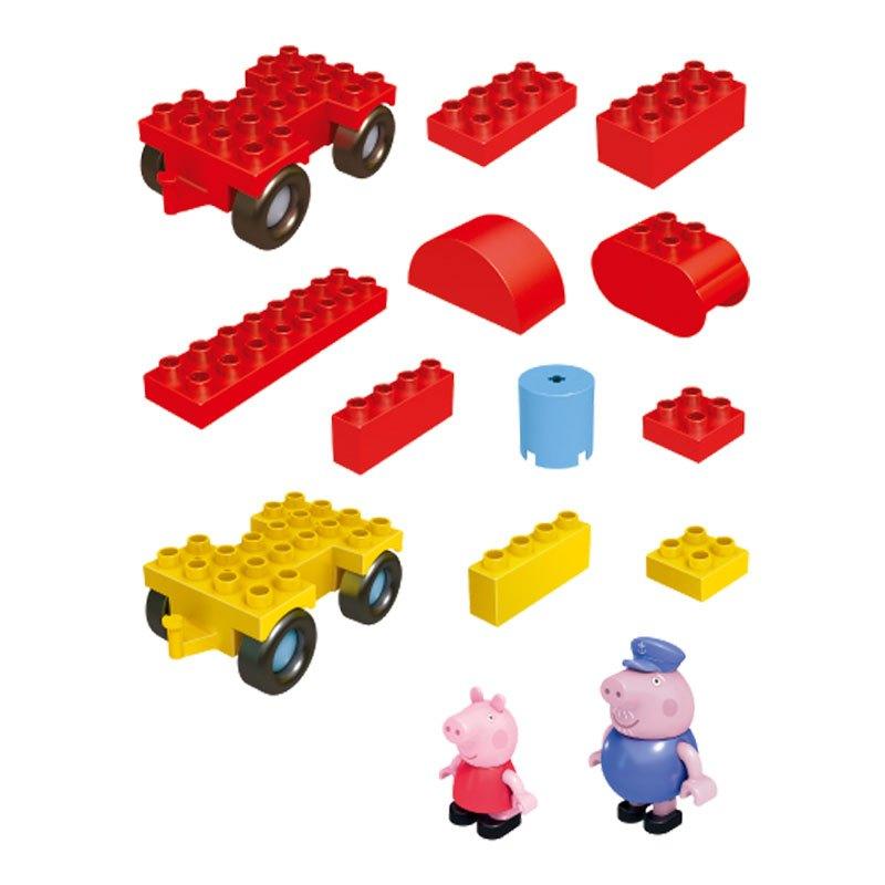 正版小猪佩奇邦宝益智大颗粒积木儿童女孩玩具猪爷爷的火车6033