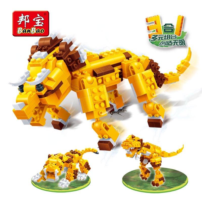 邦宝积木【小颗粒】邦宝新品益智积木玩具动物创意3合