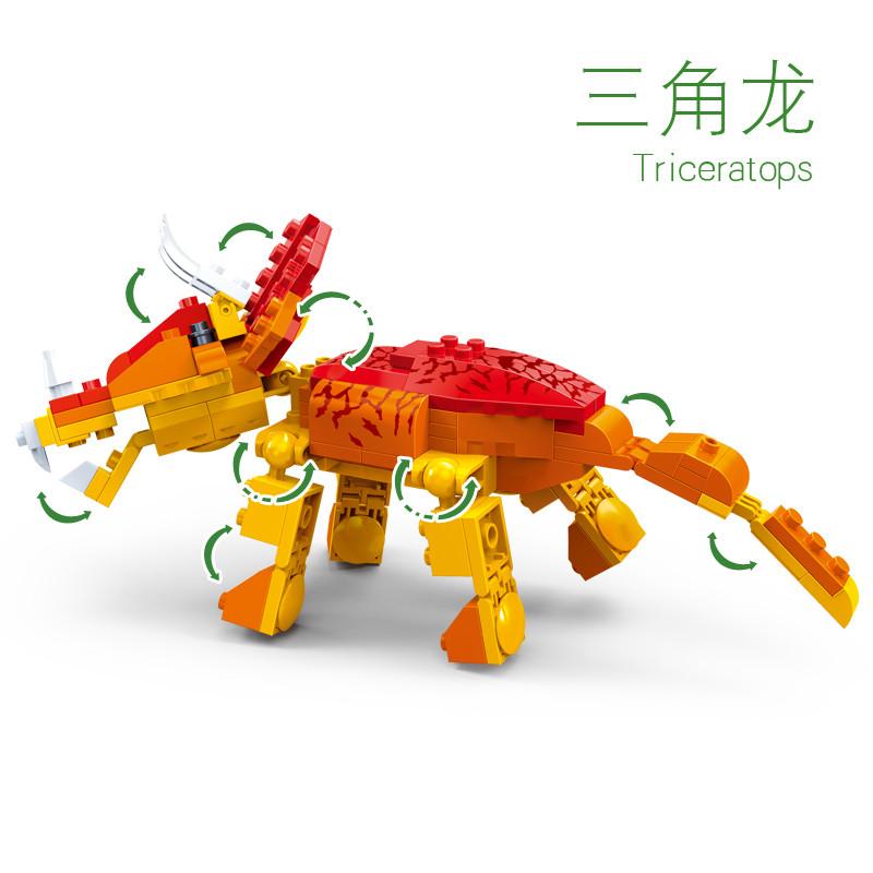 【邦宝儿童旗舰店】邦宝积木娃娃拼插模型侏罗纪小颗粒玩具恐龙官方礼东莞积木图片