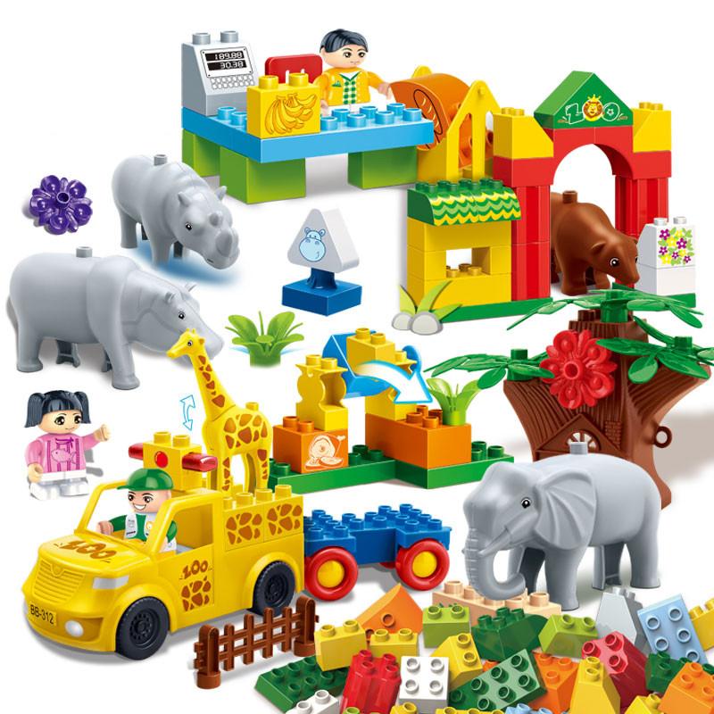 邦宝积木【大颗粒】邦宝动物礼盒拼插益智积木教玩具丛林之家9551