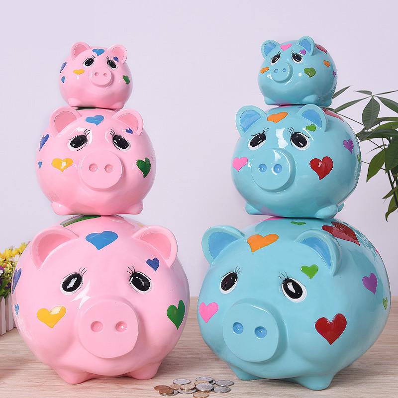 小猪储钱罐居家客厅书房儿童存钱罐零钱罐硬币储蓄罐卡通创意手工礼品
