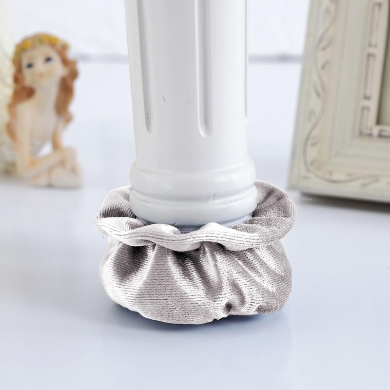 桌脚保护垫耐磨加厚桌椅腿套凳子脚套椅子脚垫包椅子脚套-花朵脚套-浅图片