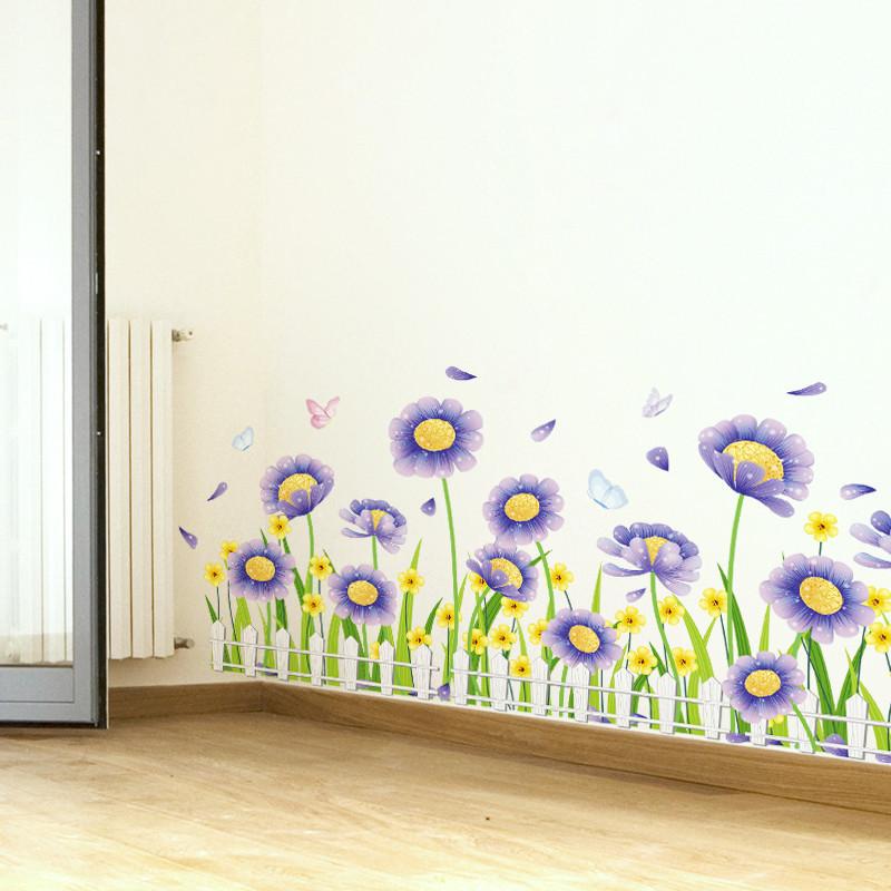 房间卧室装饰品布置壁纸防水贴画创意墙角踢脚线墙贴纸腰线贴墙面-12