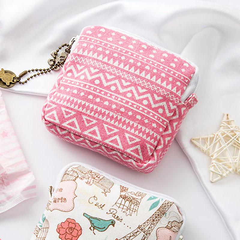 可爱便携收纳包大容量卫生巾收纳包装姨妈巾袋子放卫生棉小包