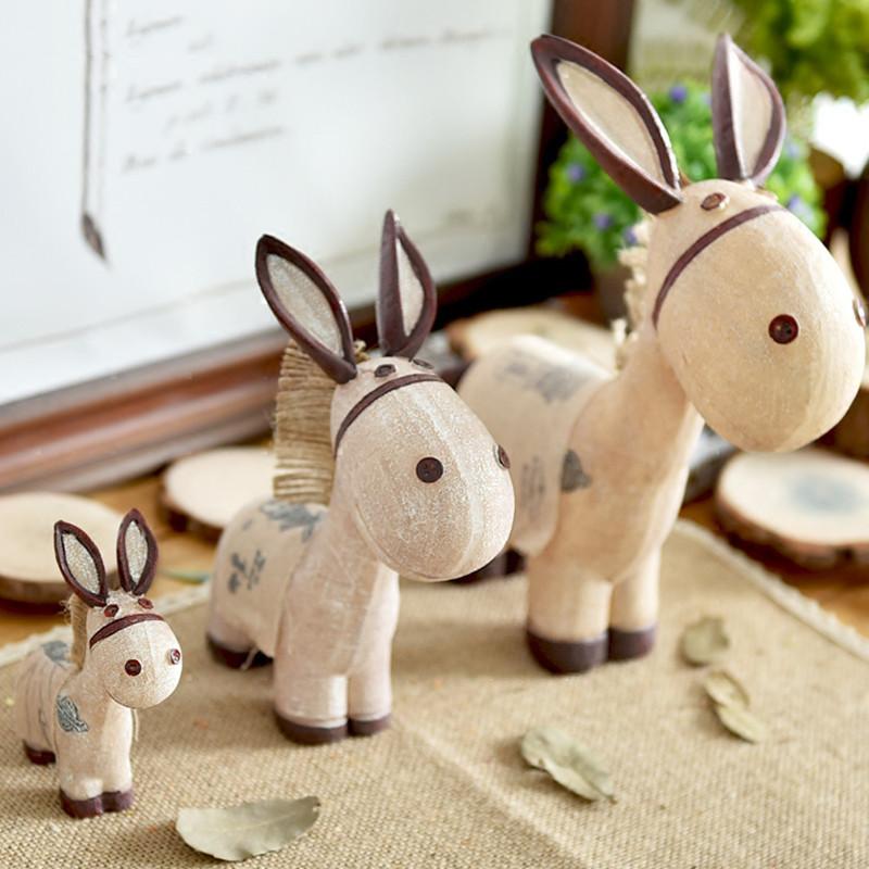 乡村风格小驴树脂摆件动物装饰品创意家居礼品工艺品电视柜摆件-小驴
