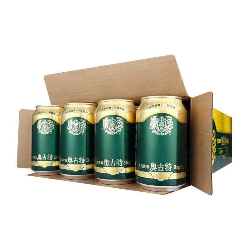 青岛啤酒(tsingtao)奥古特 12度 330ml*24罐整箱装