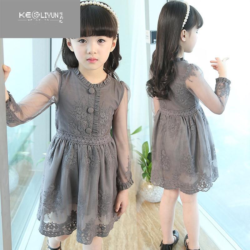 可莉允时尚品牌8到9夏装6女童连衣裙7女孩蕾丝衣服11小学生15夏天公主