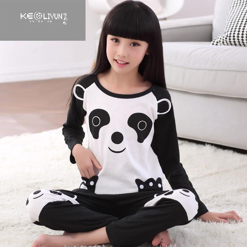 女童睡衣秋季薄款 棉长袖女孩家居服套装 可爱卡通儿童睡衣萌
