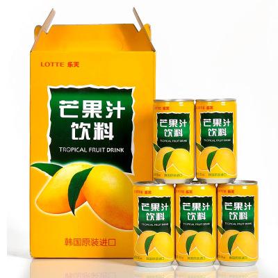 樂天(LOTTE) 芒果汁180mlx15罐 整盒韓國進口水果汁飲料禮盒