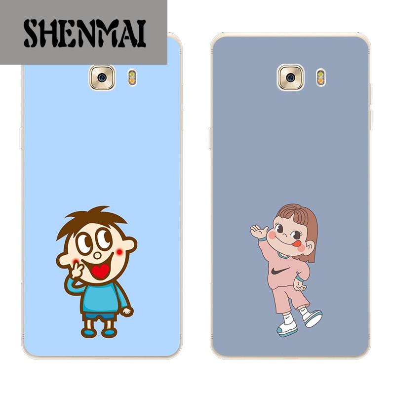 shm品牌三星a8/a9手机壳c9pro手机壳保护套软硅胶可爱