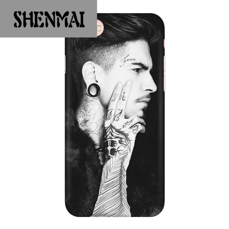 shm品牌苹果6s潮男手机壳iphone6欧美个性plus创意纹身硅胶防摔6p磨砂