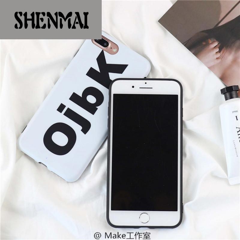ojbk个性恶搞字母iphone8x手机壳苹果7/6splus创意软壳潮男女