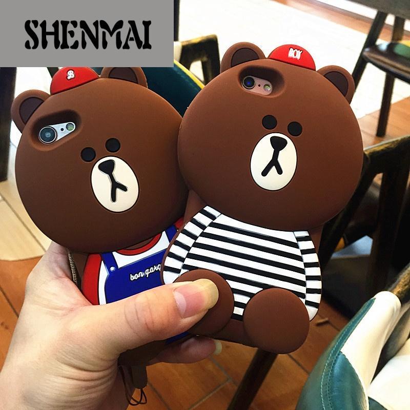 shm品牌oppor9s手机壳软硅胶r11plus防摔套挂绳创意卡通可爱小熊x7