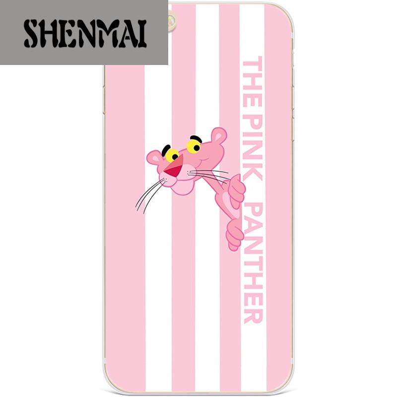 shm品牌粉红豹iphone6/7/8plus手机壳苹果5se/6s/x顽皮豹可爱女跳跳虎