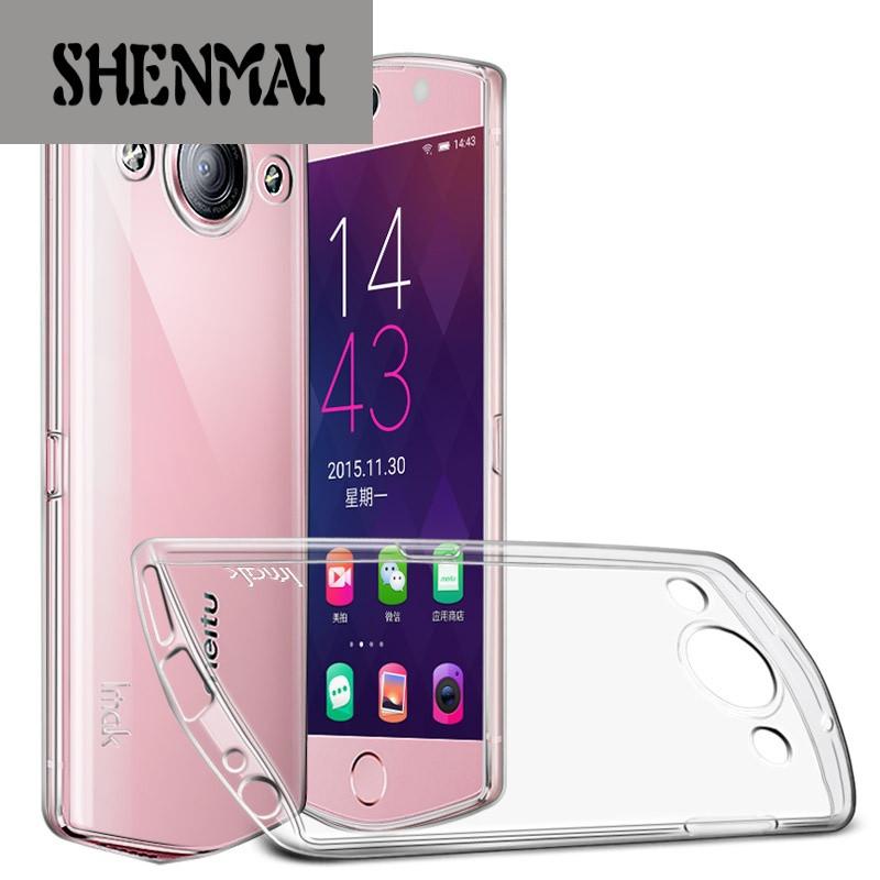 shm品牌 美图m8手机壳t8s保护套硅胶m6透明防摔全包薄