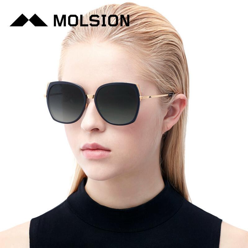 陌森经典镂空猫眼造型金属镜腿可配近视太阳眼镜墨镜司机驾驶镜女ms