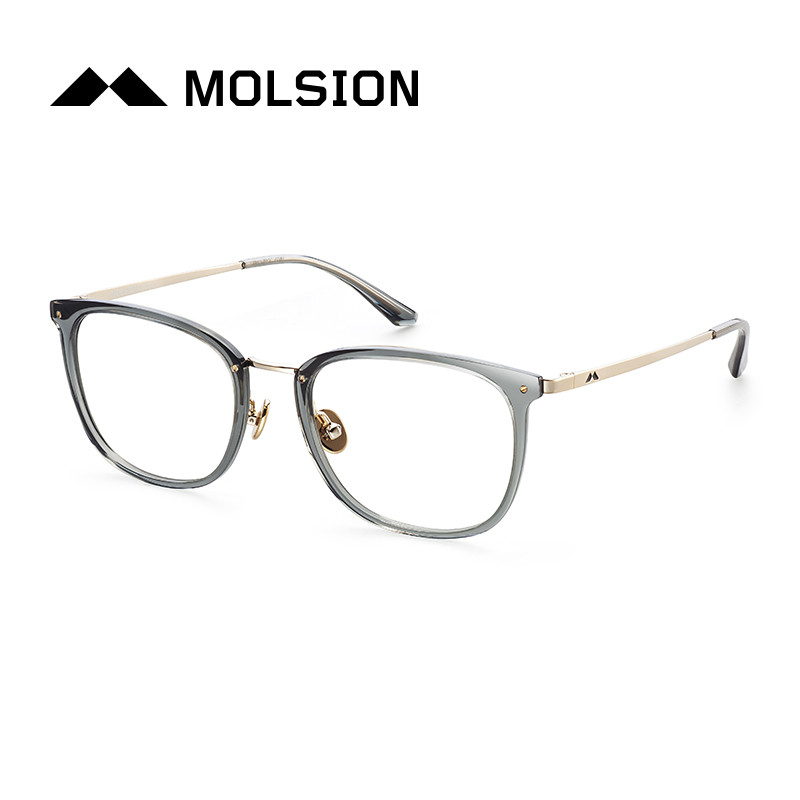 molsion陌森眼镜框男2017年新款全框板材近视镜眼镜架
