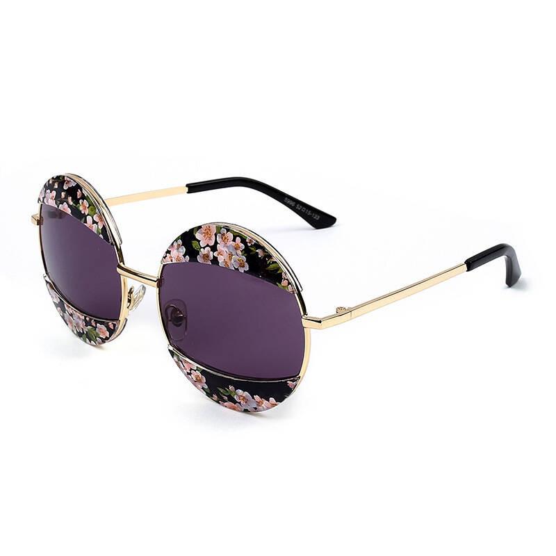 2017年新款女款太阳镜韩宿风森系甜美眼镜圆型时尚太阳眼镜996男女款