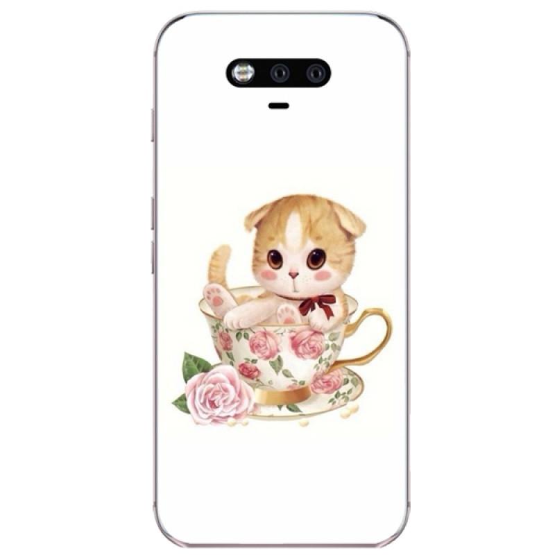622款华为荣耀magic手机壳畅享6s软套简约个性可爱卡通萌猫咪喵挂绳