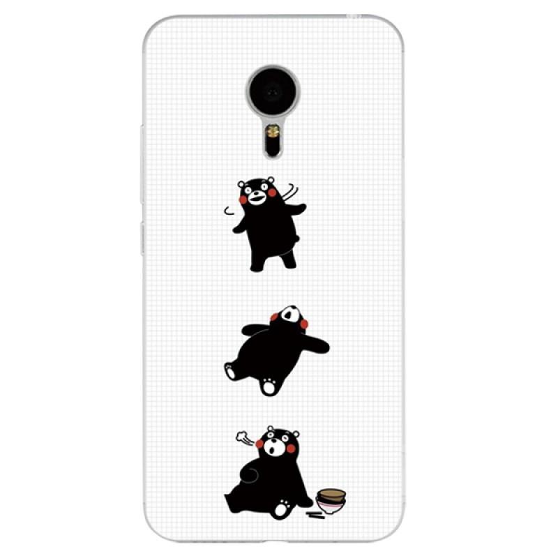622款魅族魅蓝pro5/pro6手机壳可爱卡通熊本熊情侣男女款搞怪硅胶套