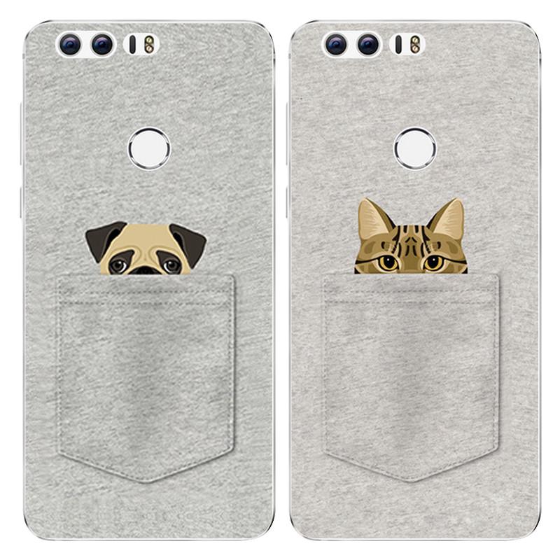 622款华为荣耀v9手机套v8保护壳软胶创意可爱卡通口袋