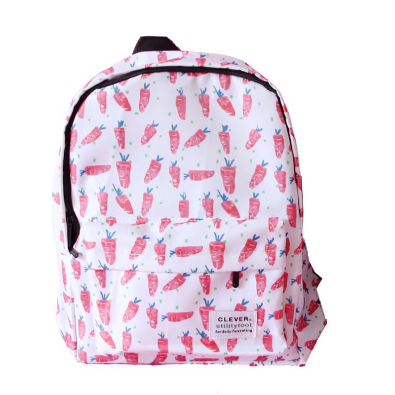 日系韩版小清新帆布双肩包女可爱少女森系百搭中学生女生书包背包