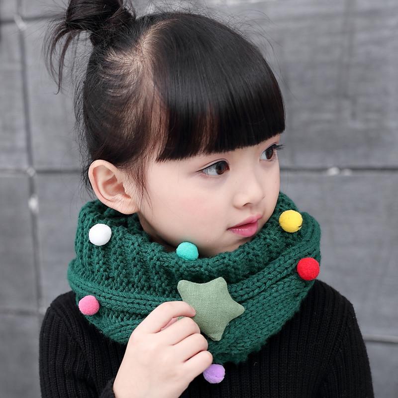 韩版秋冬可爱儿童围巾宝宝冬季保暖毛线脖套韩国男童女童针织围脖