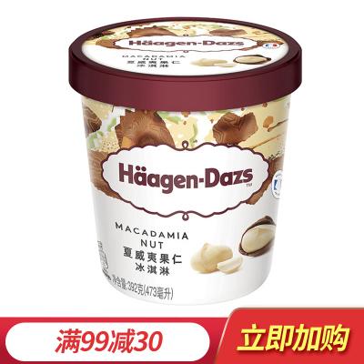 哈根达斯 大杯品脱冰淇淋雪糕 夏威夷果冰激凌 473ml