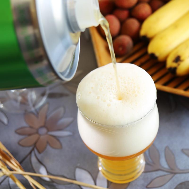 【山东馆】青岛原浆啤酒亮动精酿小麦白啤2l桶装自然浑浊高浓度啤酒艾