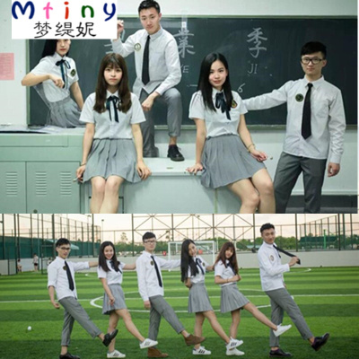 Mtiny日系水手服學生校服班服英倫學院風JK制服男女小時代高中短袖套裝