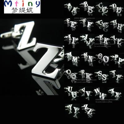Mtiny買倆送盒 A-Z全款26英文字母袖扣袖釘男法式襯衫