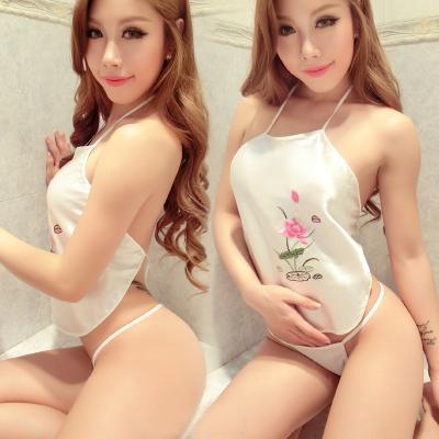上新款 中國風美女古典性感系帶MM肚兜制服誘惑成人情趣內衣睡衣套裝女騷